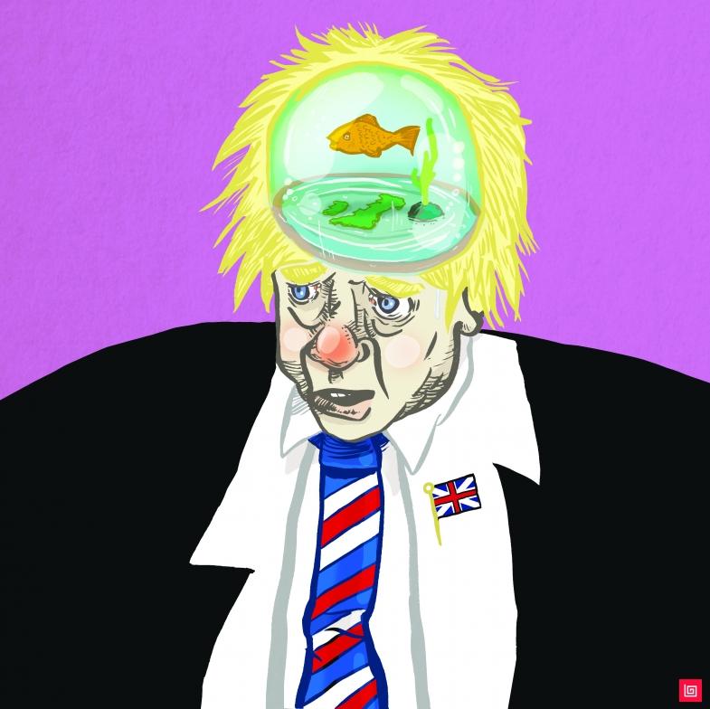 BoJo Boris Johnson - Illustration by Lee Grace Illustrator, Waterford